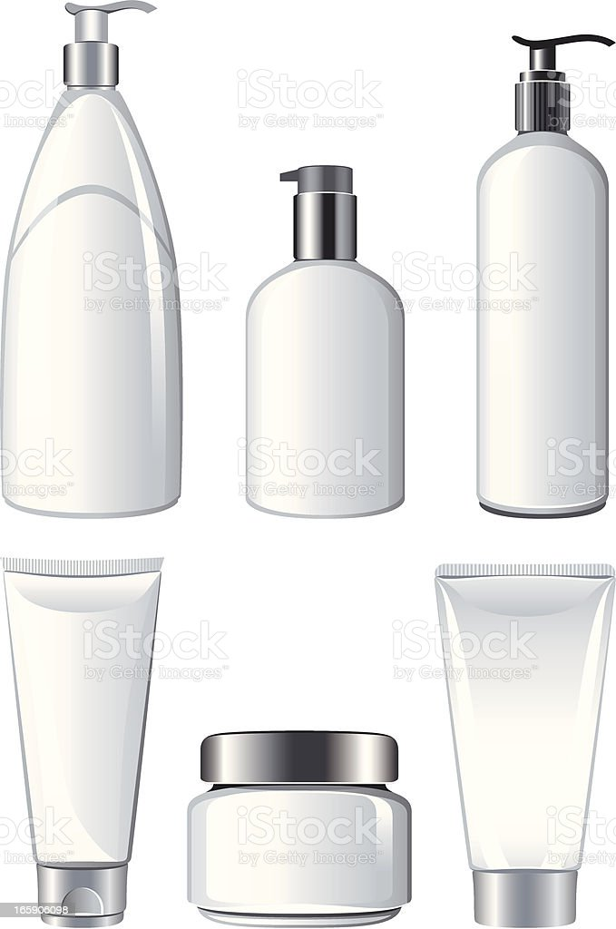 Cosmetic Containers vector art illustration