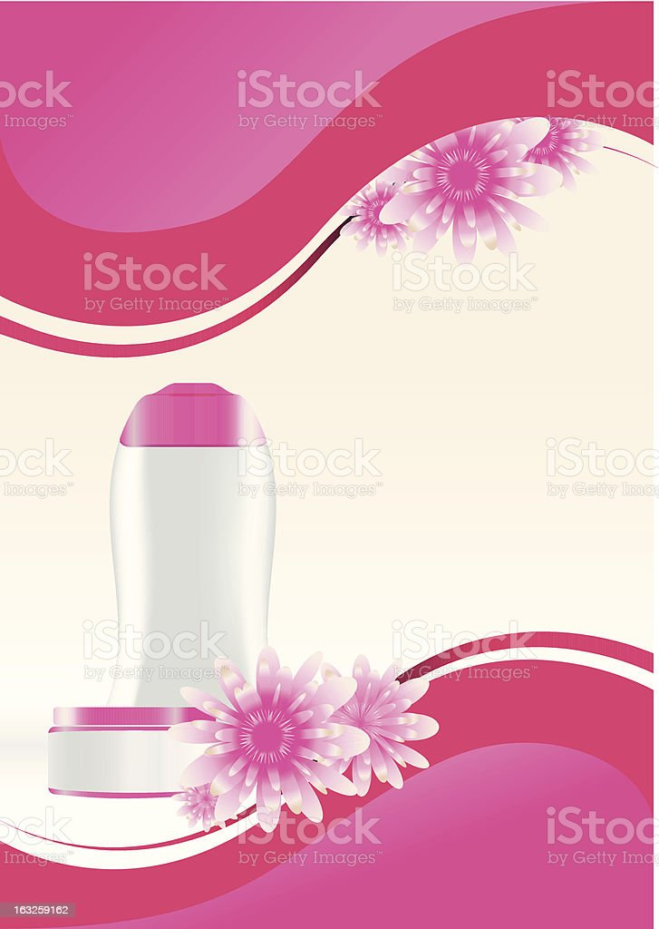 Cosmetic flyer royalty-free stock vector art