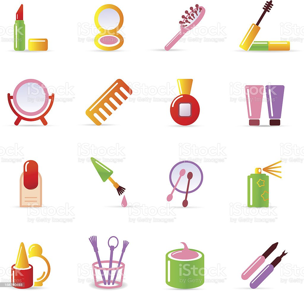 cosmetic icons royalty-free stock photo