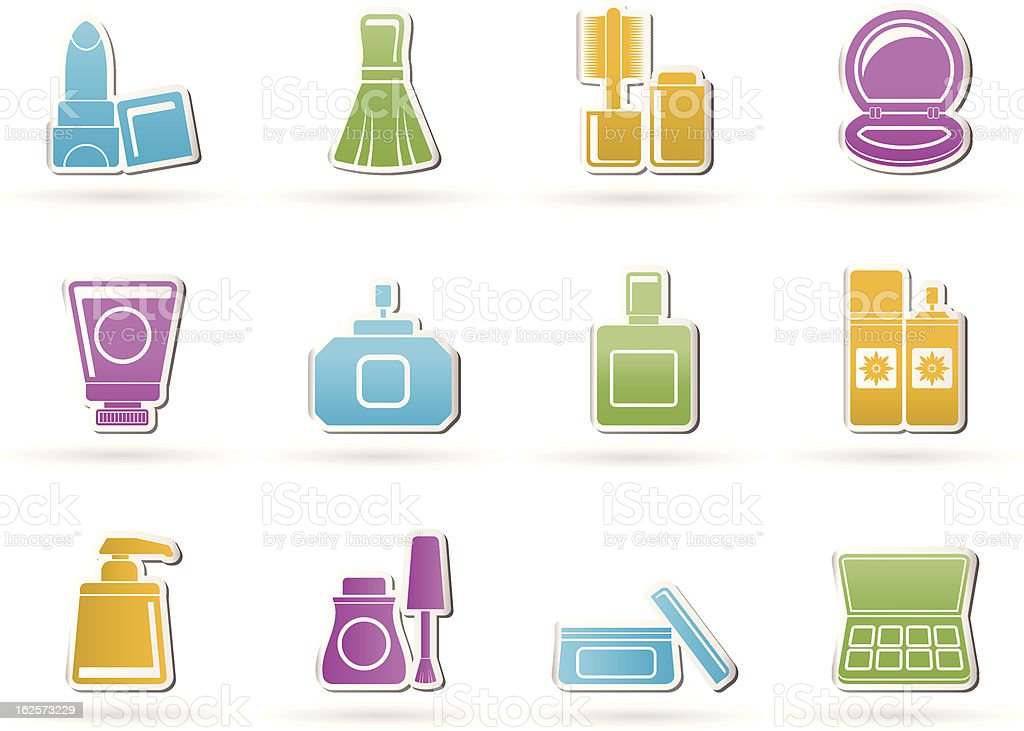 Cosmetic Industry and beauty icons royalty-free stock vector art