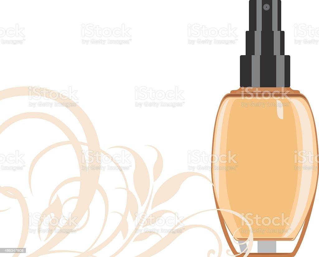 Cosmetic liquid foundation cream vector art illustration