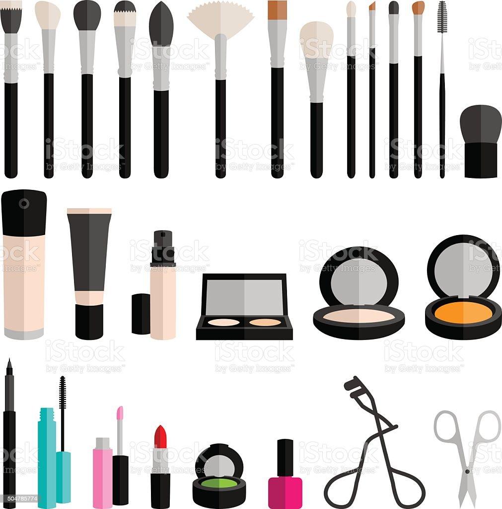 cosmetic makeup vector vector art illustration