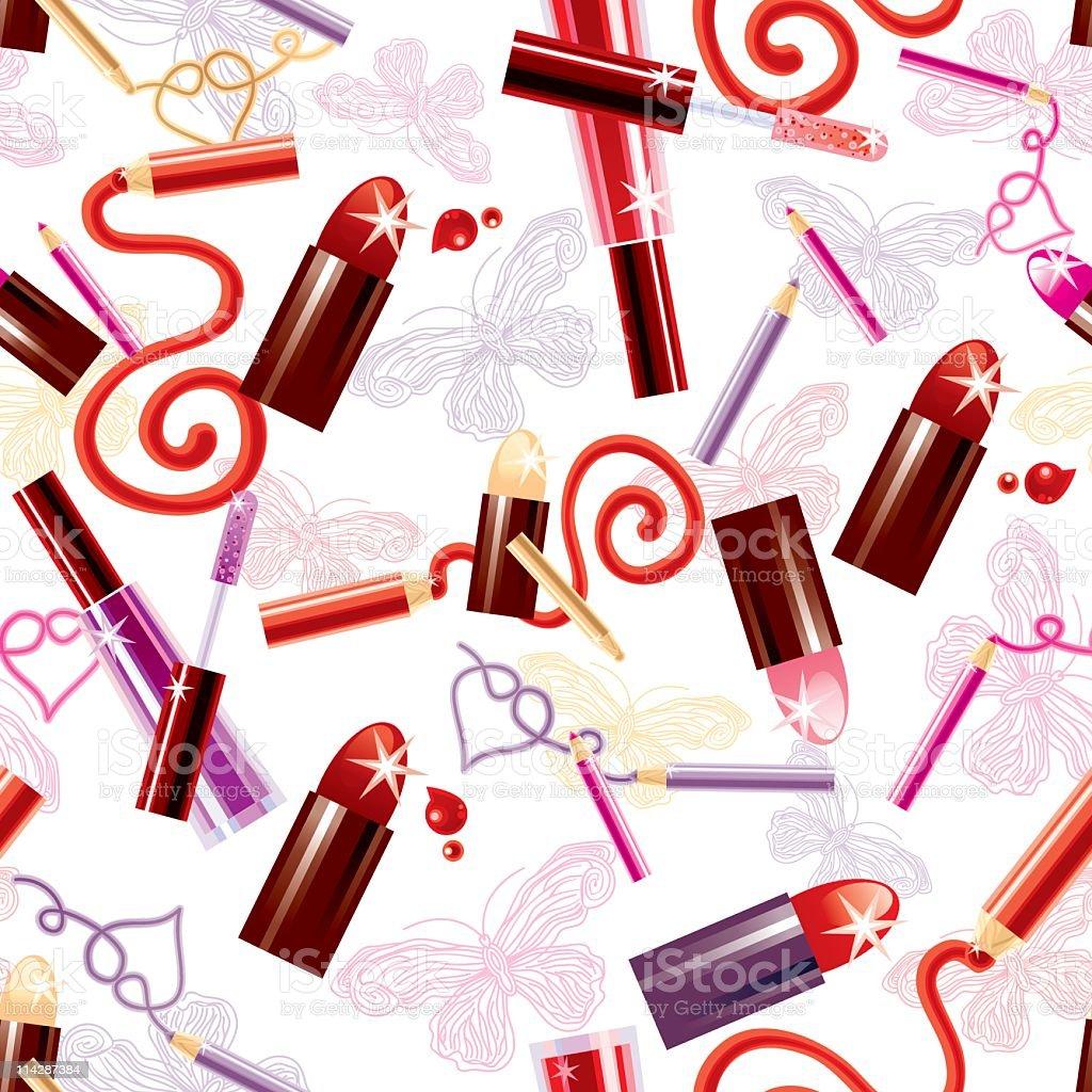 Cosmetic Pattern (White) vector art illustration