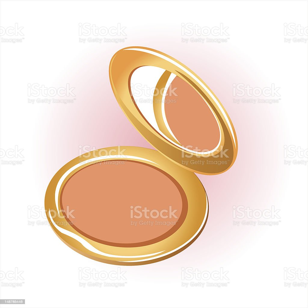cosmetic powder compact royalty-free stock vector art