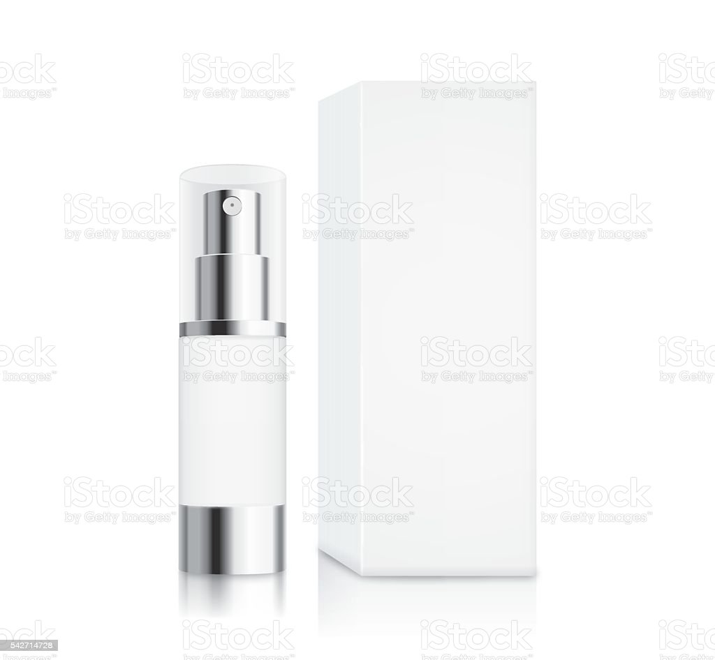 Cosmetic pump bottle small size vector art illustration
