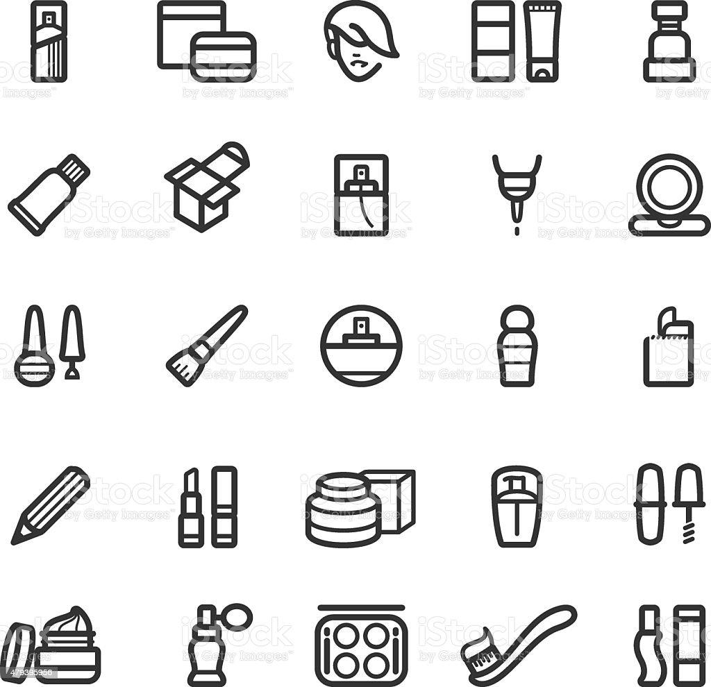 Cosmetics and beauty icon set vector art illustration