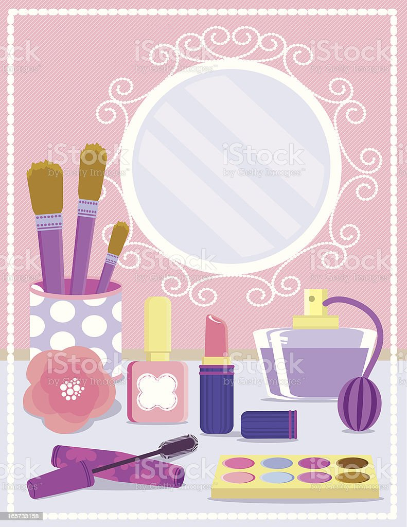 Cosmetics Background royalty-free stock vector art