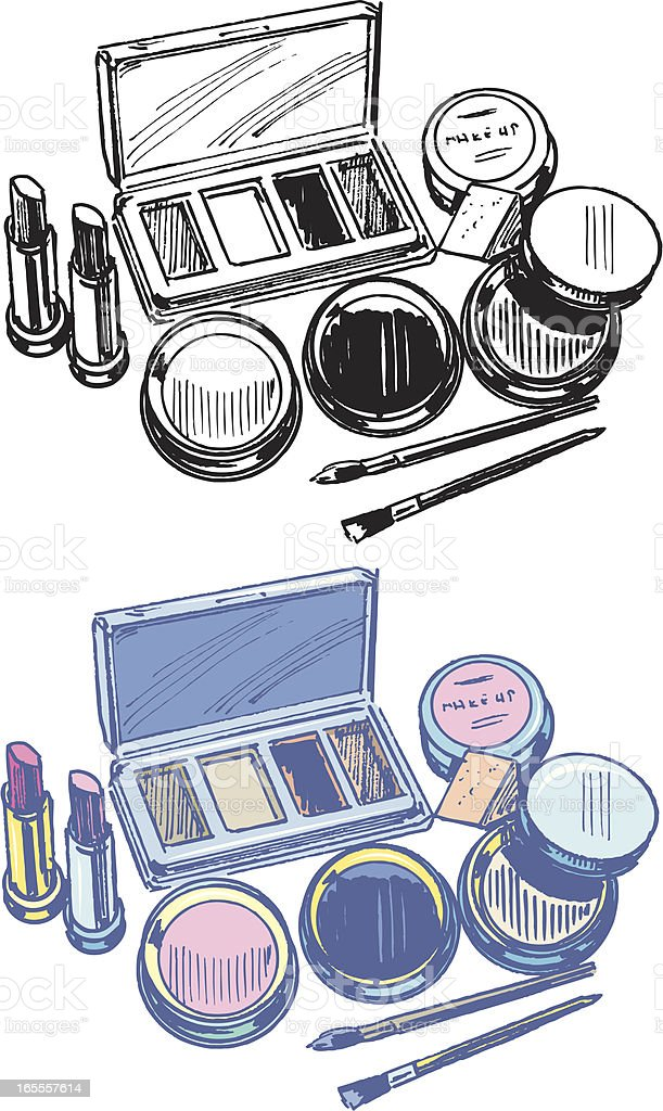 Cosmetics - Beauty Products royalty-free stock vector art