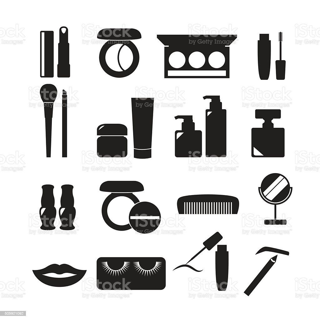 Cosmetics Icons, beauty vector set vector art illustration
