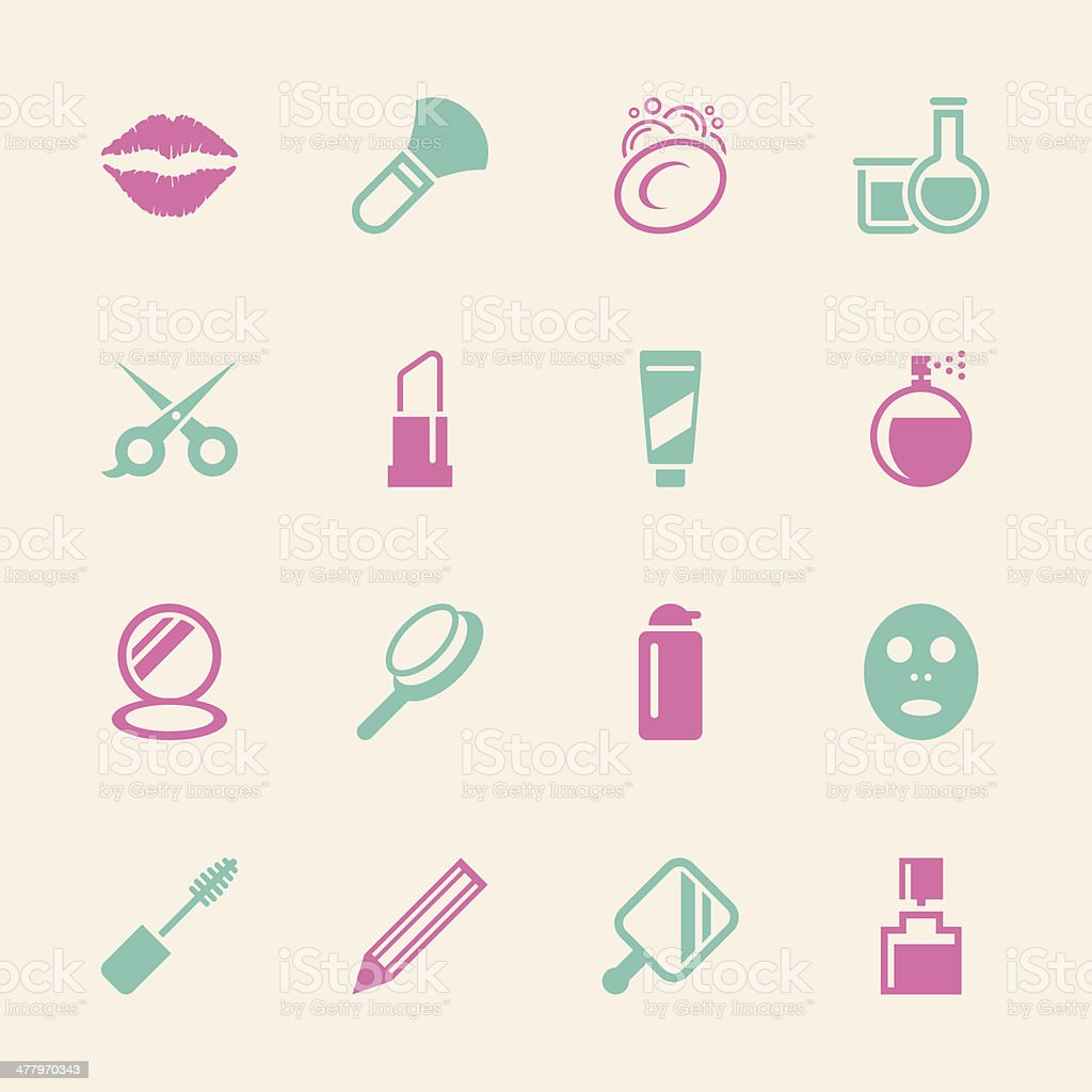 Cosmetics Icons - Color Series   EPS10 vector art illustration