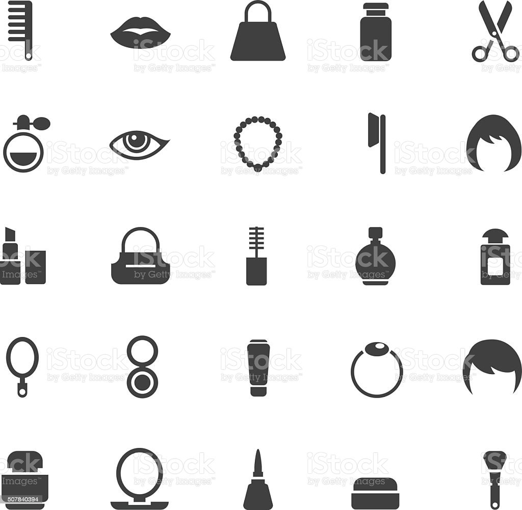 Cosmetics Icons vector art illustration