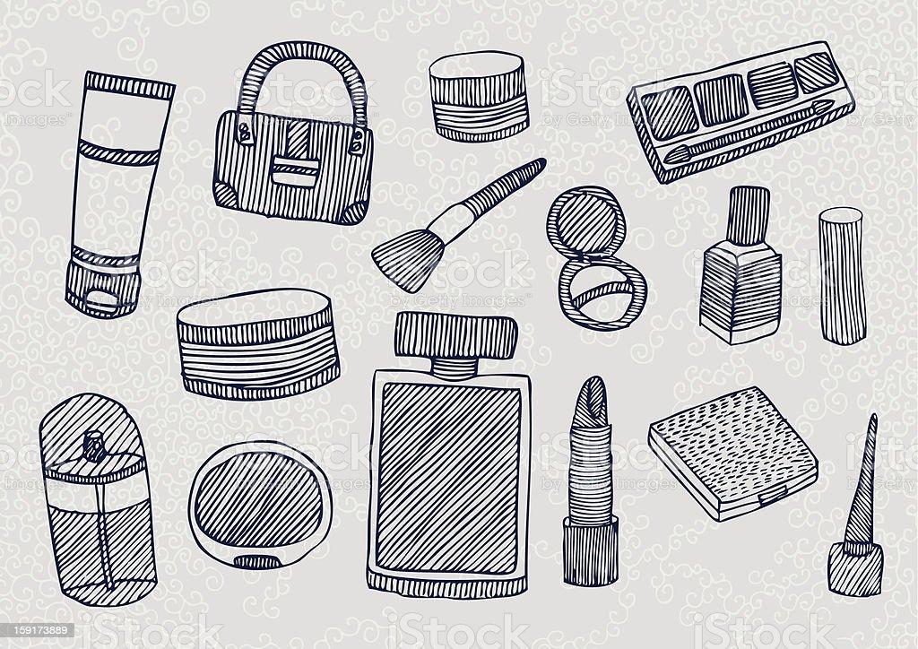 Cosmetics Pack royalty-free stock vector art