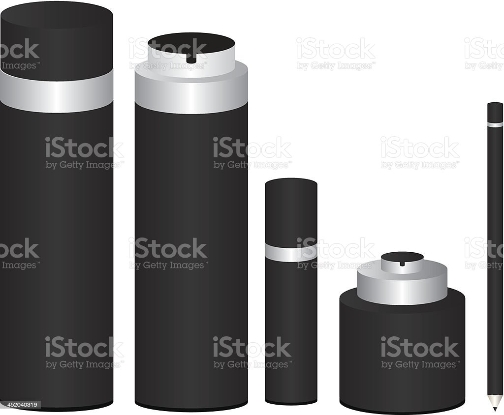 Cosmetics package illustration royalty-free stock vector art