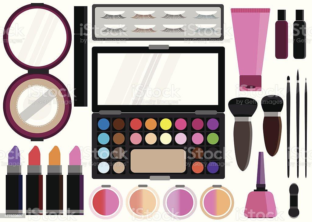 cosmetics set Beauty instrument vector illustration royalty-free stock vector art
