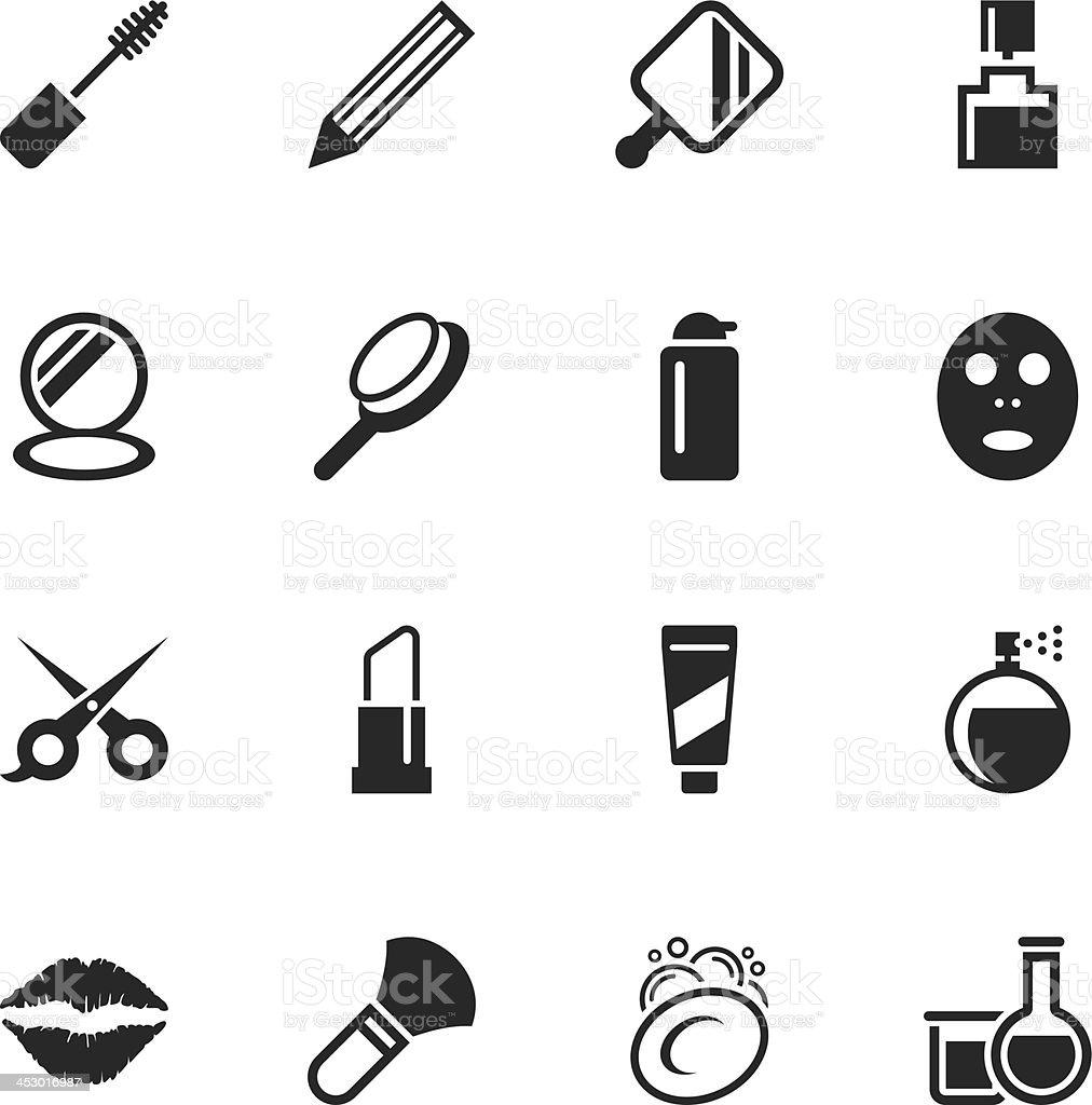 Cosmetics Silhouette Icons vector art illustration