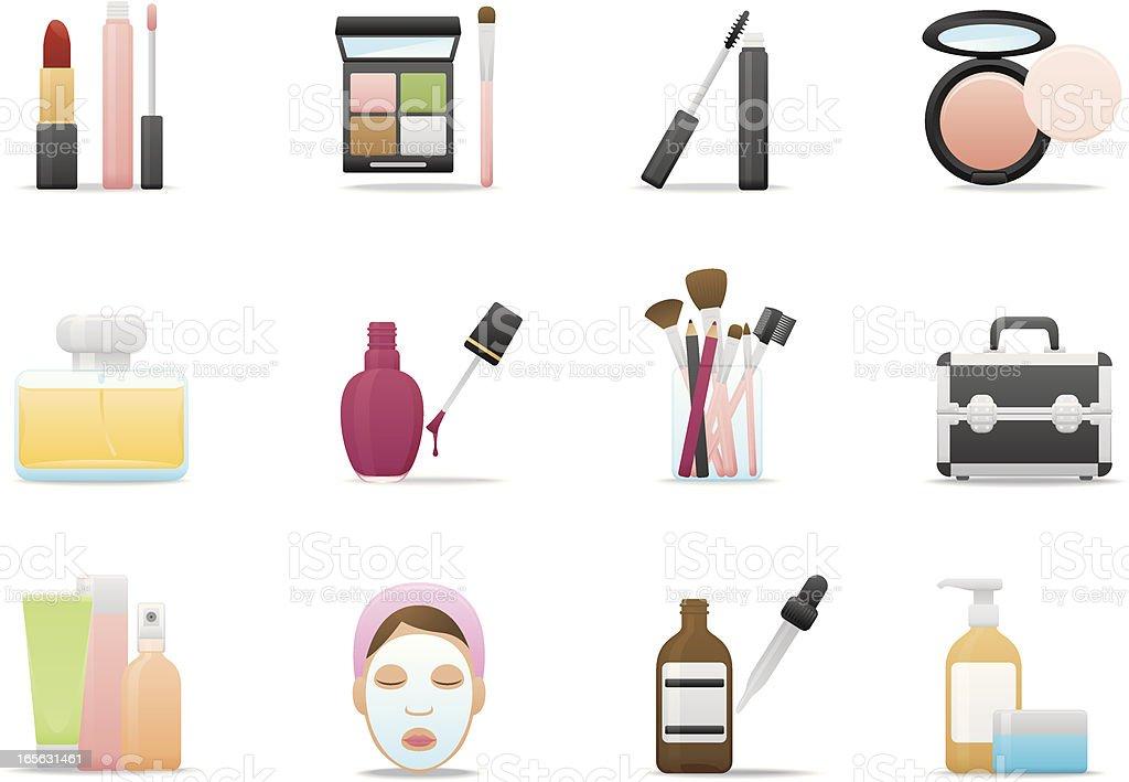 Cosmetics & Skin Care icons | Premium Matte series vector art illustration
