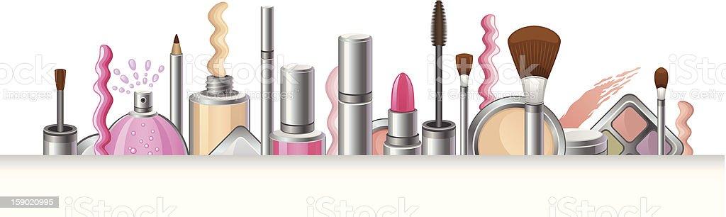 Cosmetics vector art illustration
