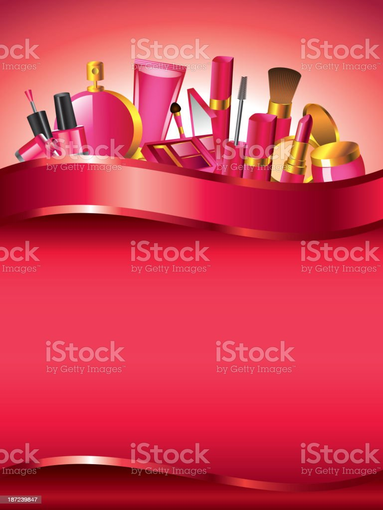 Cosmetics vertical vector background royalty-free stock vector art