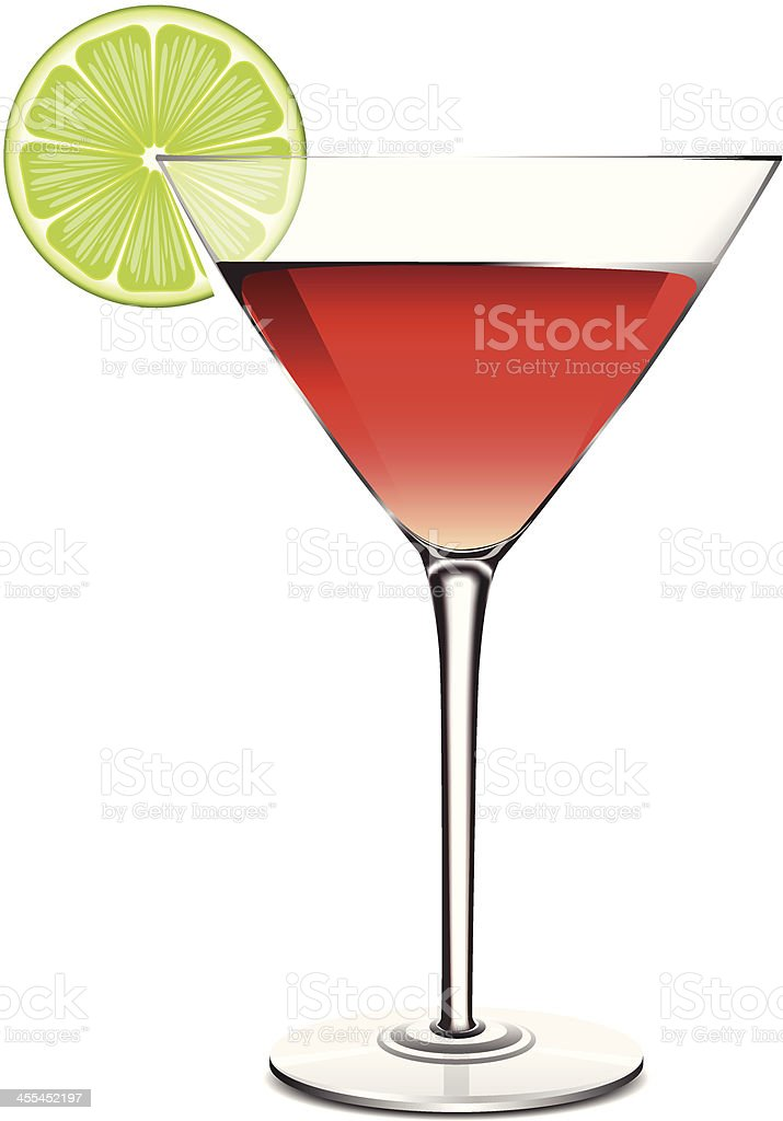 Cosmopolitan with Lime vector art illustration