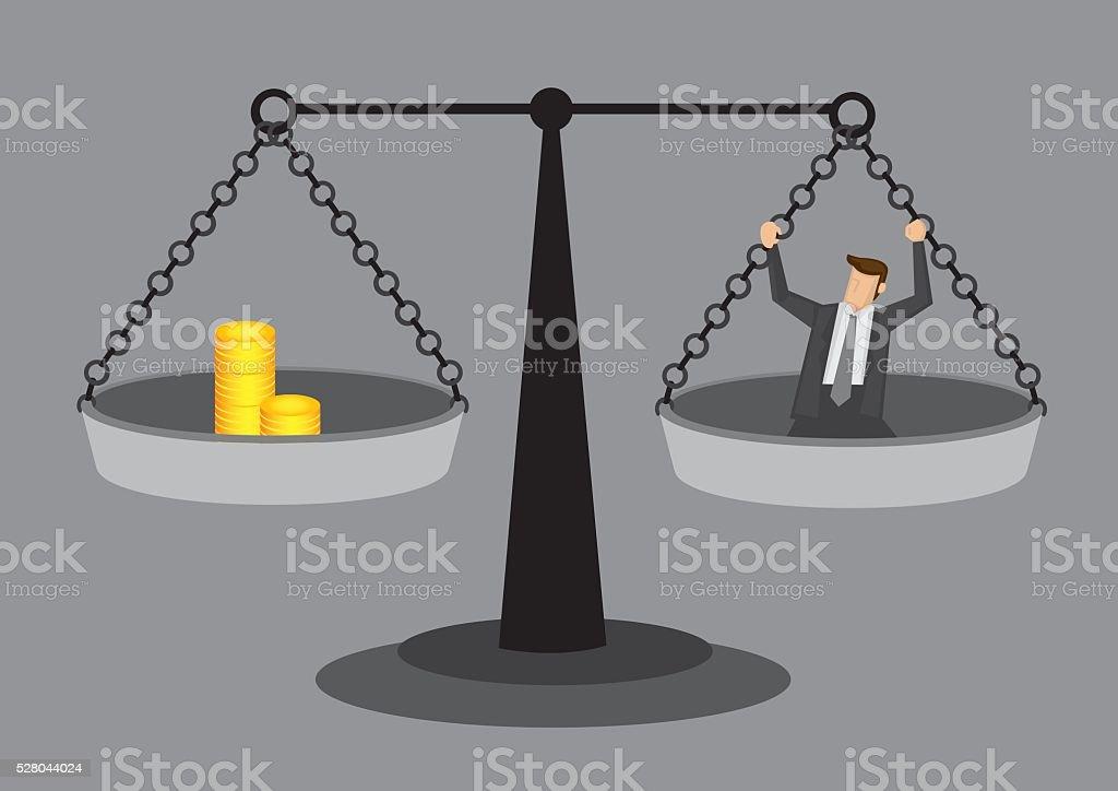 Cost of Human Resource Conceptual Vector Illustration vector art illustration