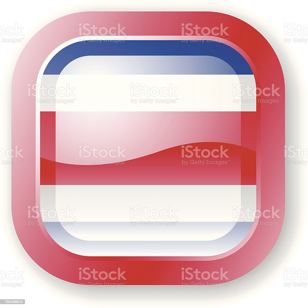 Costa Rica Flag Icon royalty-free stock vector art
