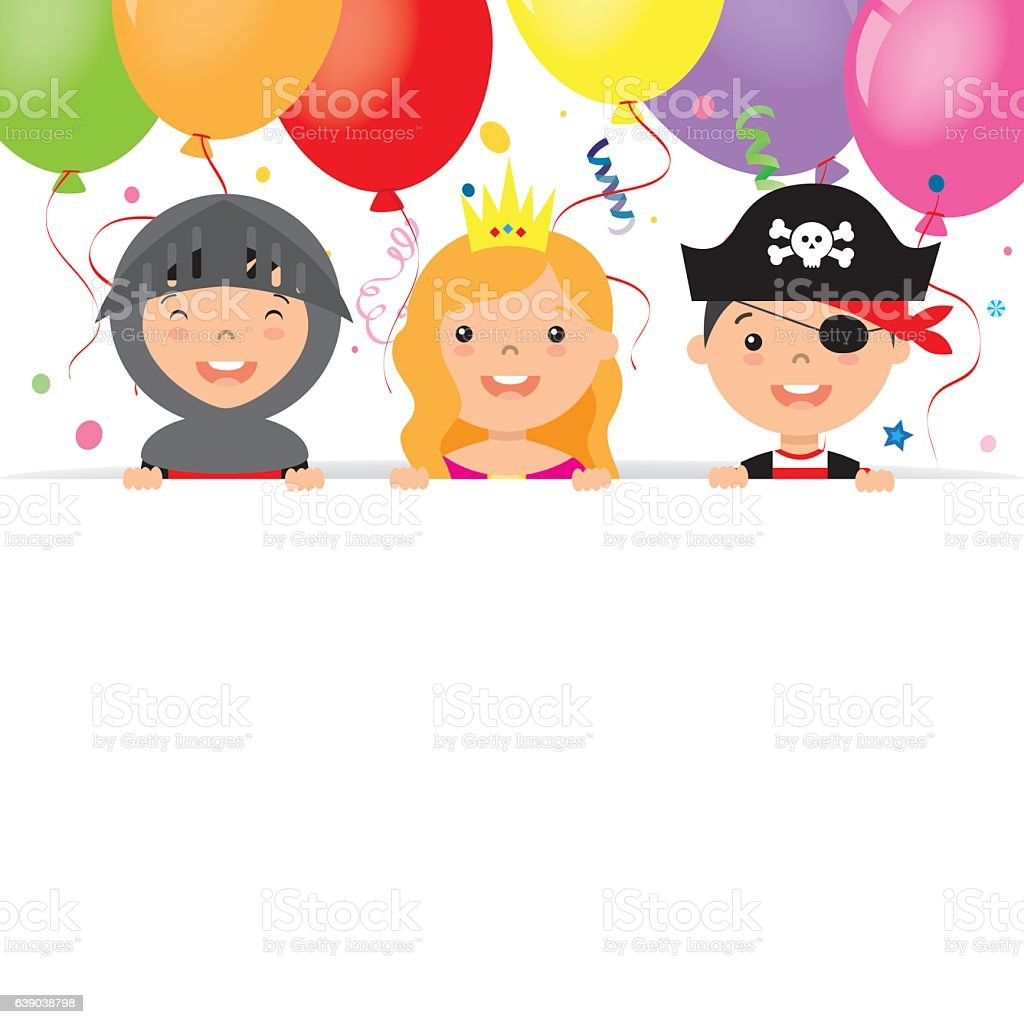 costume party card vector art illustration
