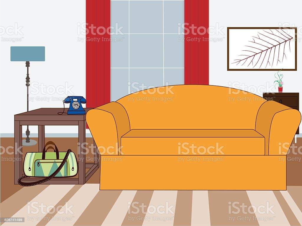 Cosy Living Room Royalty Free Stock Vector Art