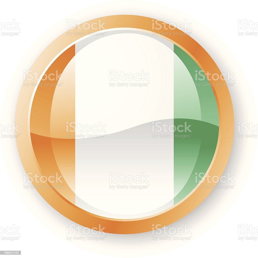 Cote d'Ivoire Flag Icon royalty-free stock vector art