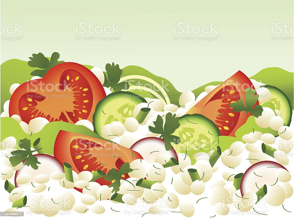Cottage cheese vector art illustration
