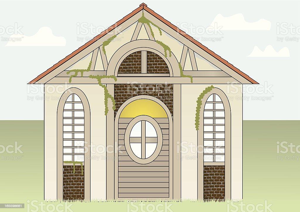 Cottage vector art illustration