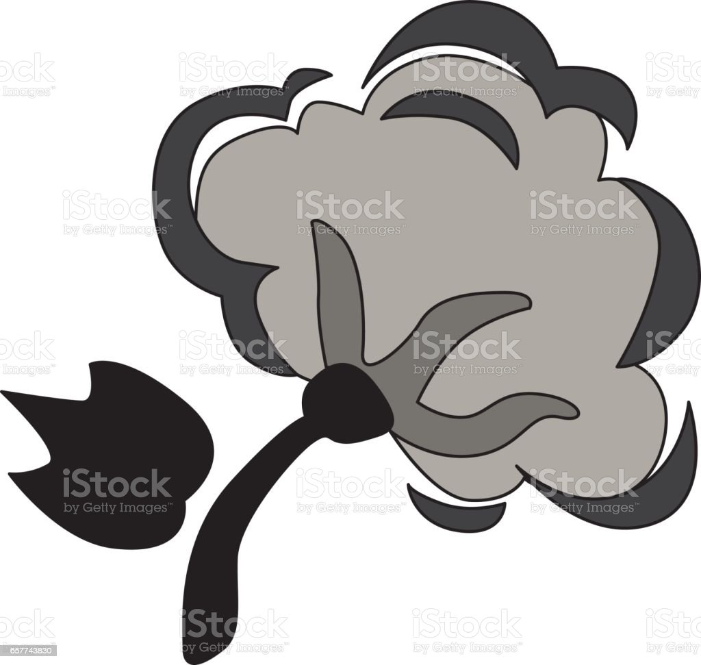 cotton branch icon. Natural, bio and good quality vector art illustration