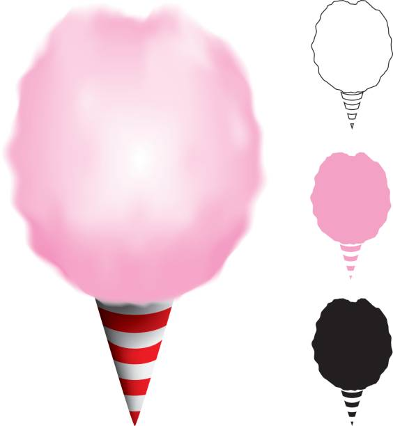 Cotton Candy Clip Art, Vector Images & Illustrations - iStock