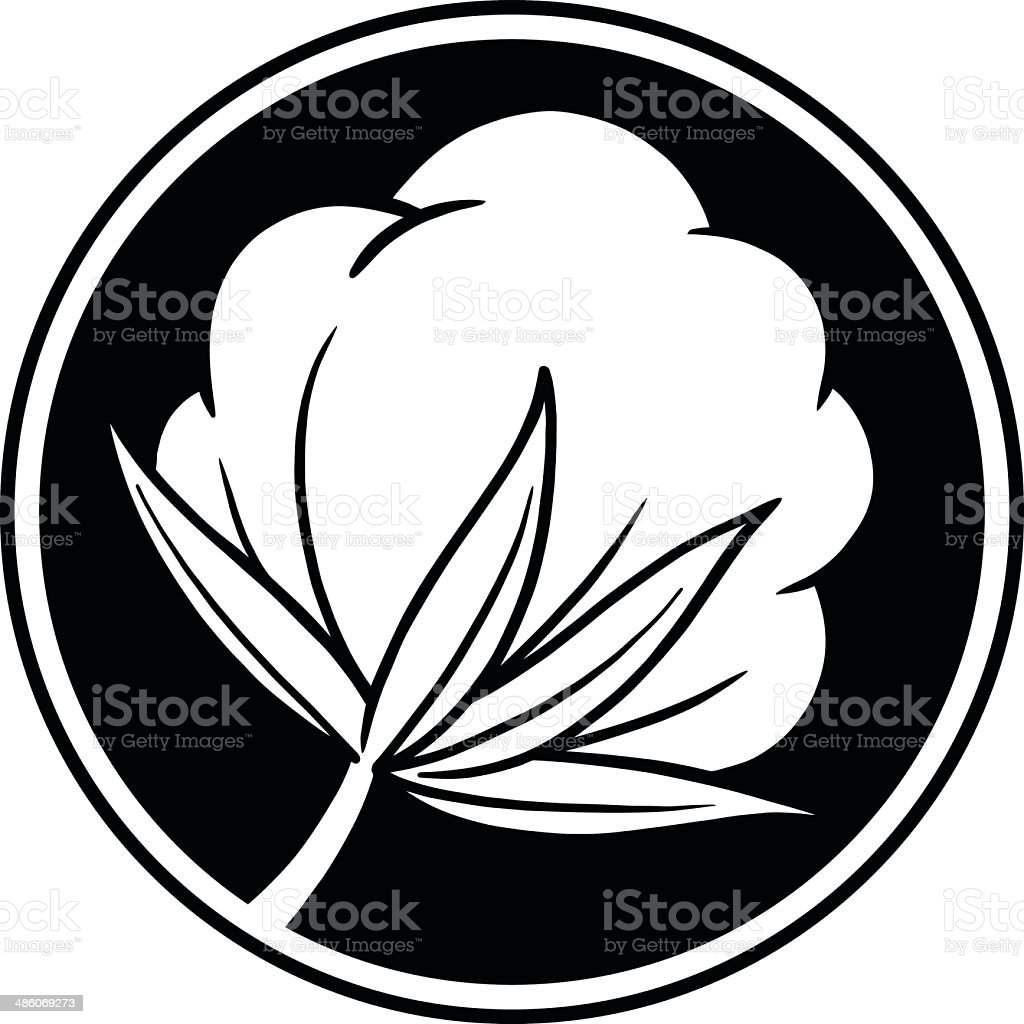 Cotton Icon vector art illustration