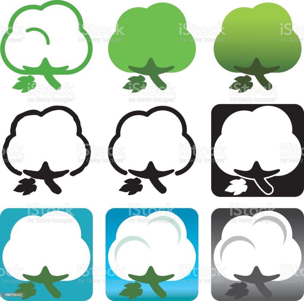 Cotton Icons vector art illustration