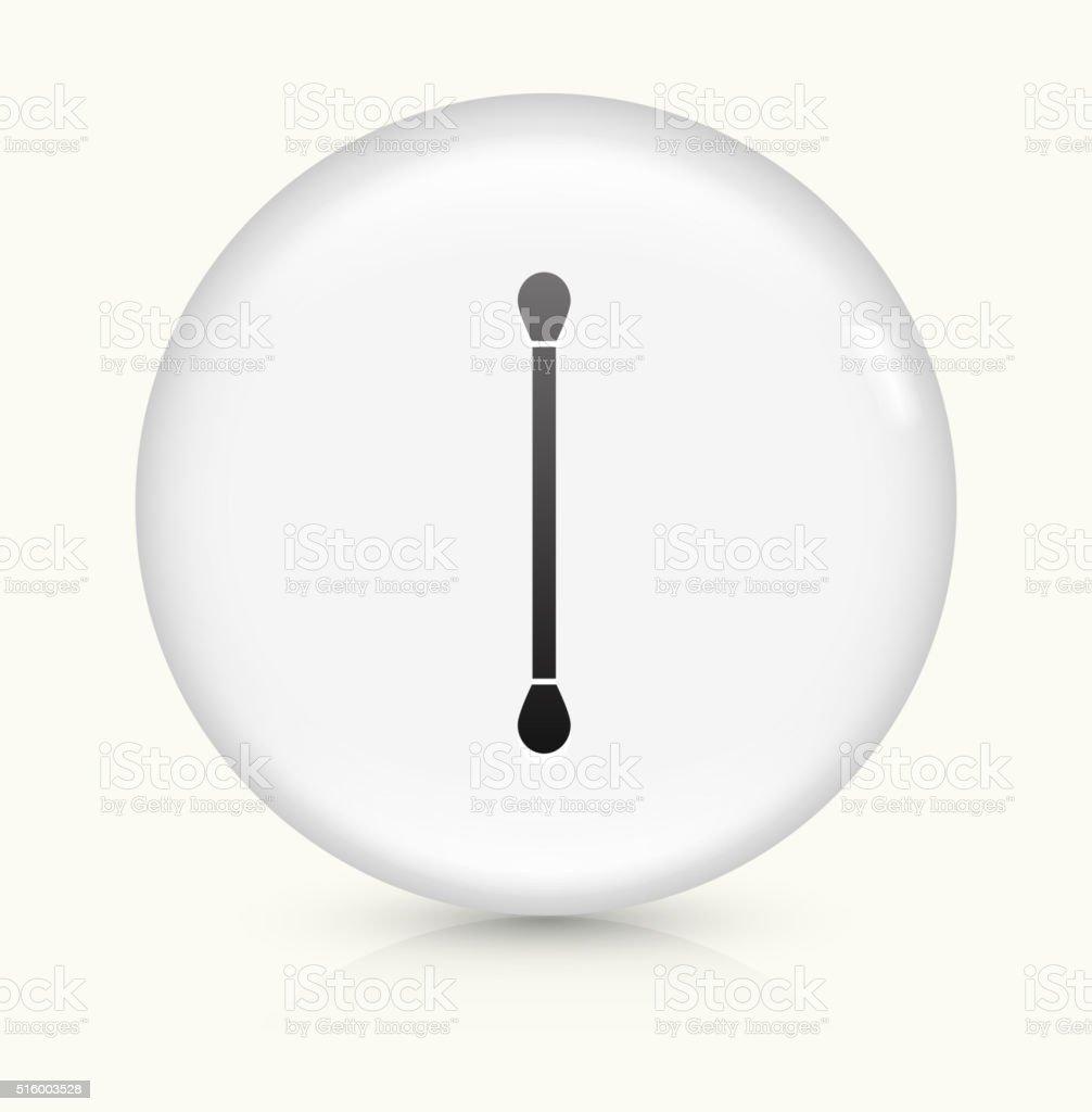 Cotton Swab icon on white round vector button vector art illustration