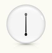 Cotton Swab icon on white round vector button