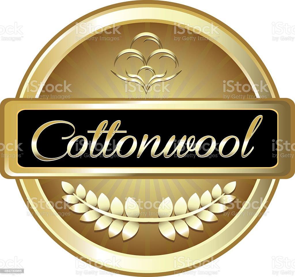 Cotton Wool Gold Label vector art illustration