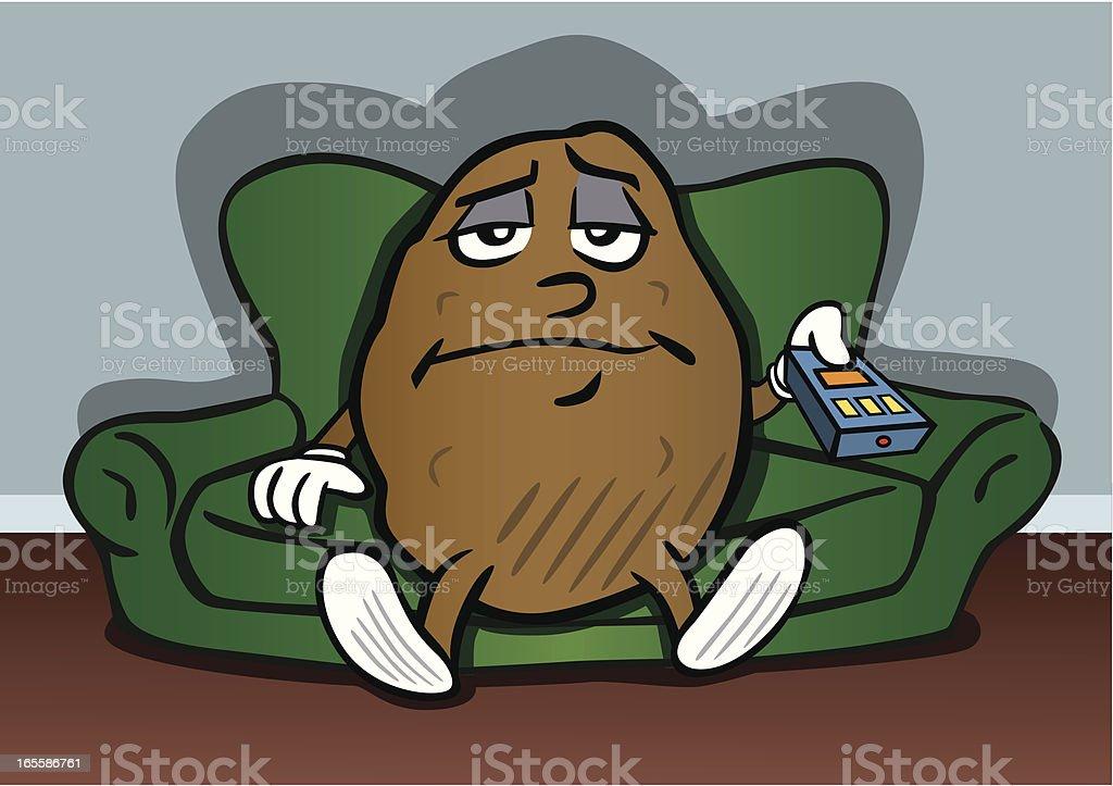 Couch Potato vector art illustration
