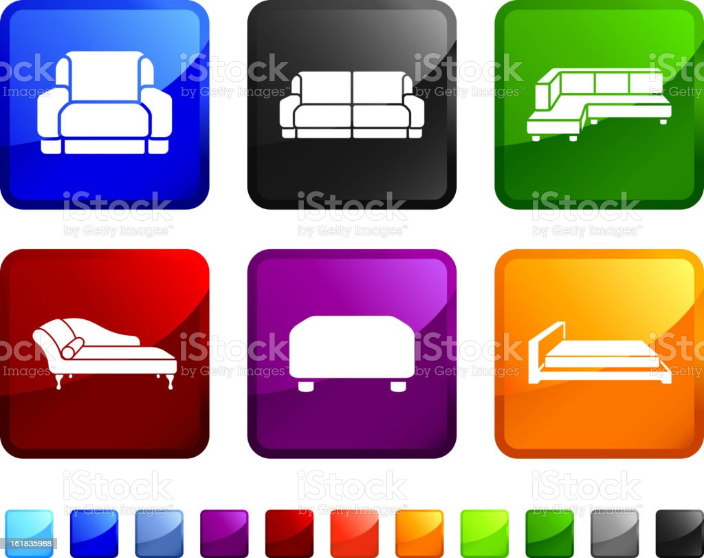 Couch royalty free vector icon set royalty-free stock vector art