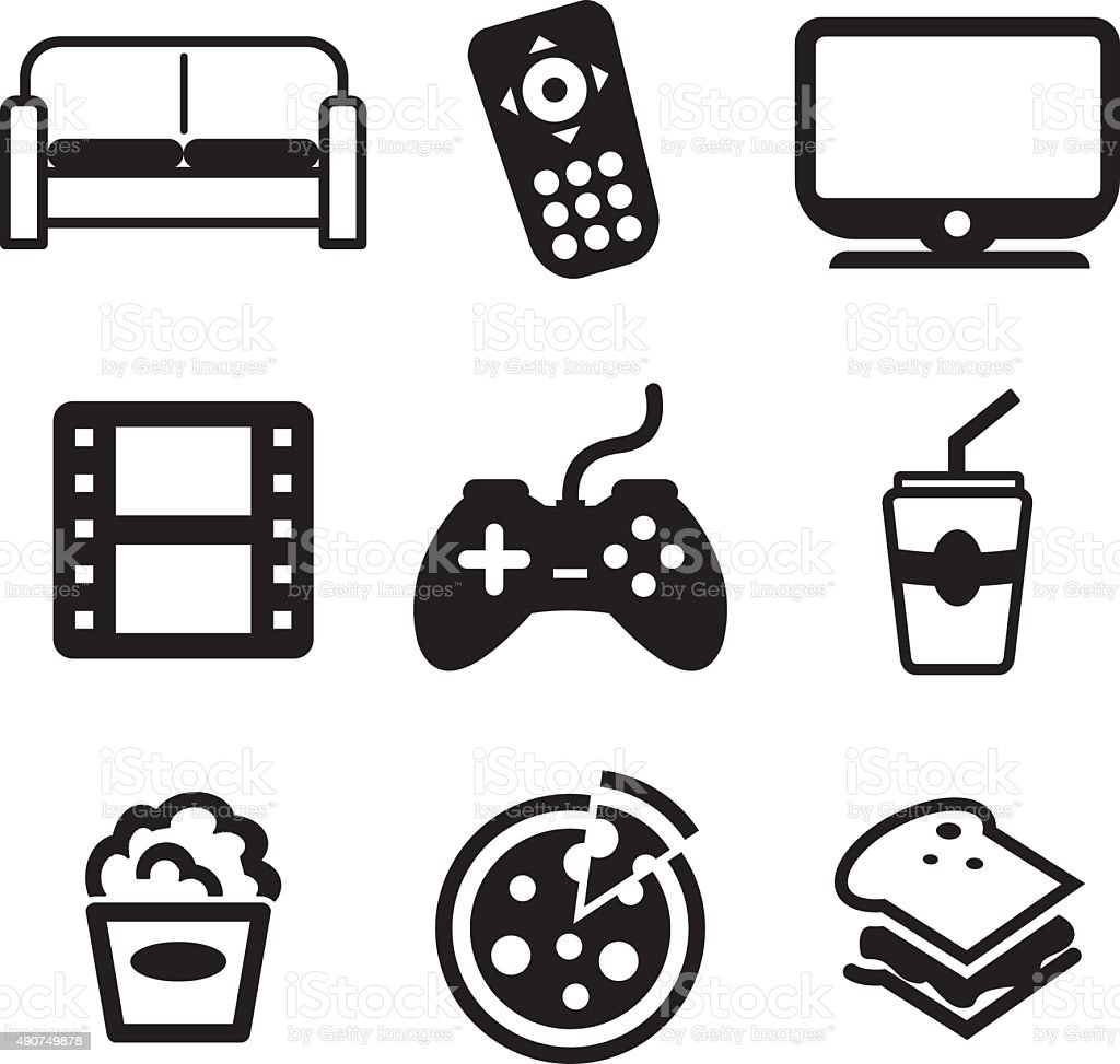 Couchpotato Icons vector art illustration