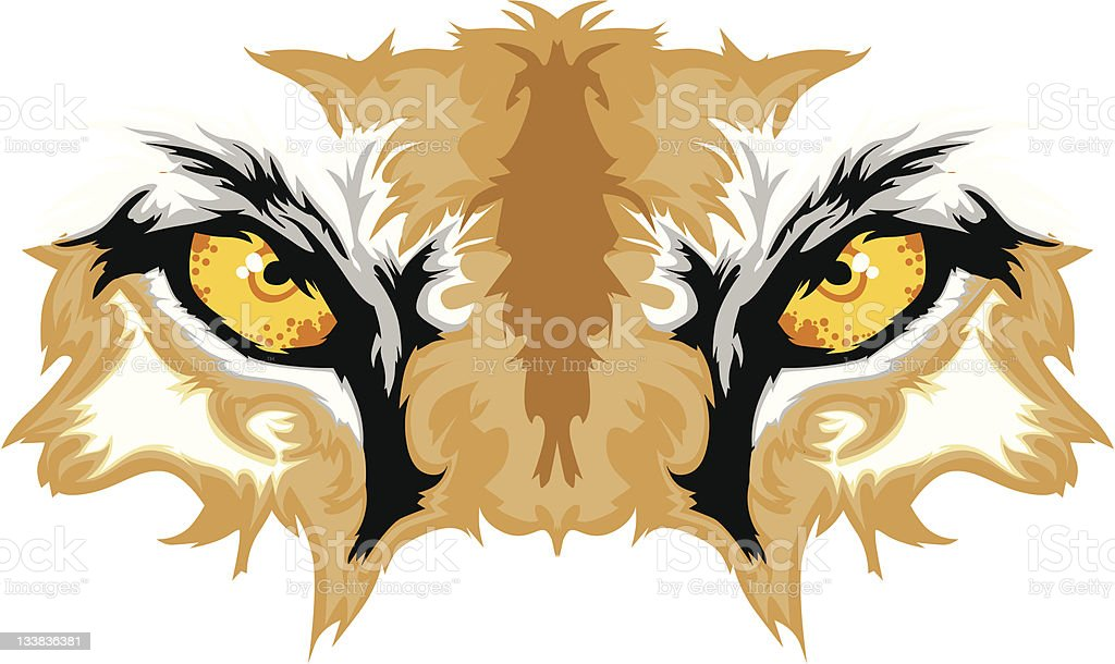 Cougar Eyes Mascot Graphic royalty-free stock vector art