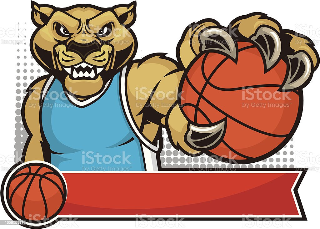 Cougar Mascot Basketball stock vector art 165908891 | iStock
