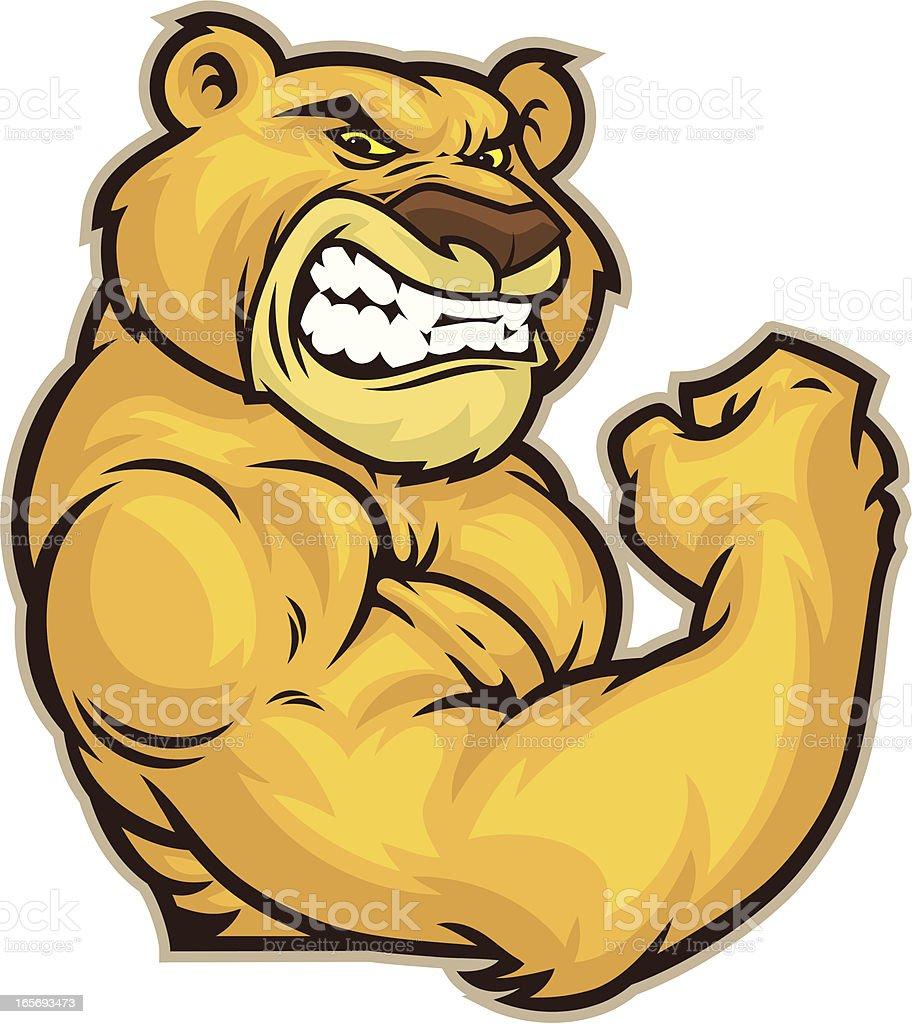 Cougar Mascot Flex vector art illustration