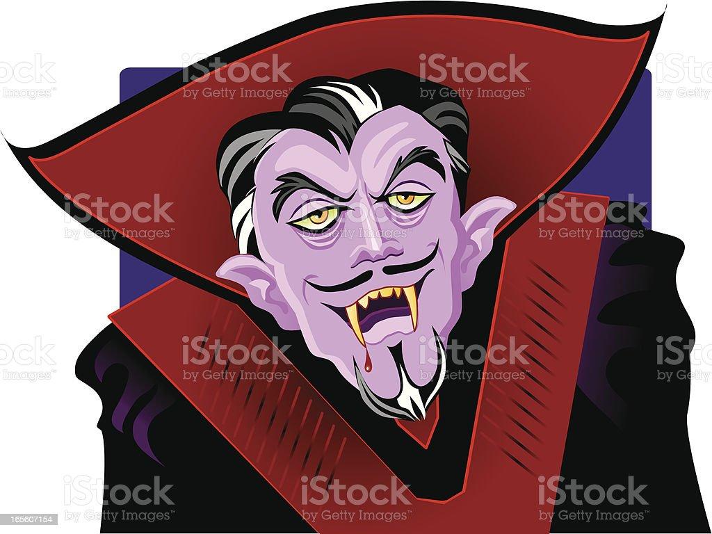 Count Dracula - Vampire royalty-free stock vector art