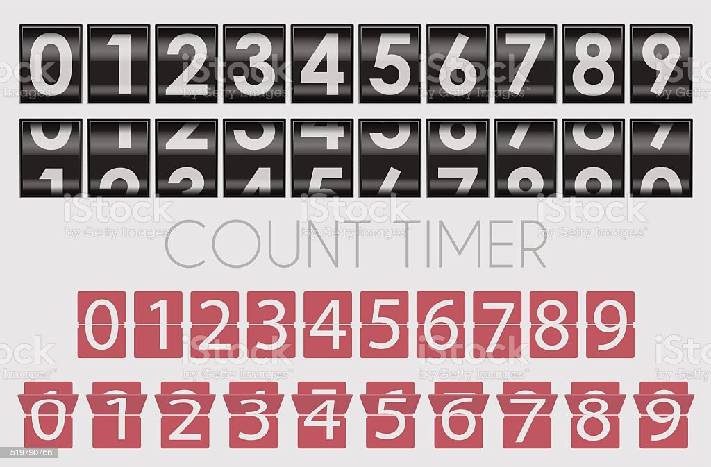 Count timer vector art illustration