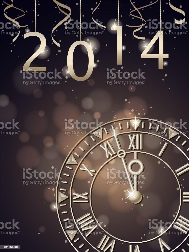 Countdown 2014 royalty-free stock vector art