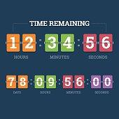 Countdown mechanical clock.