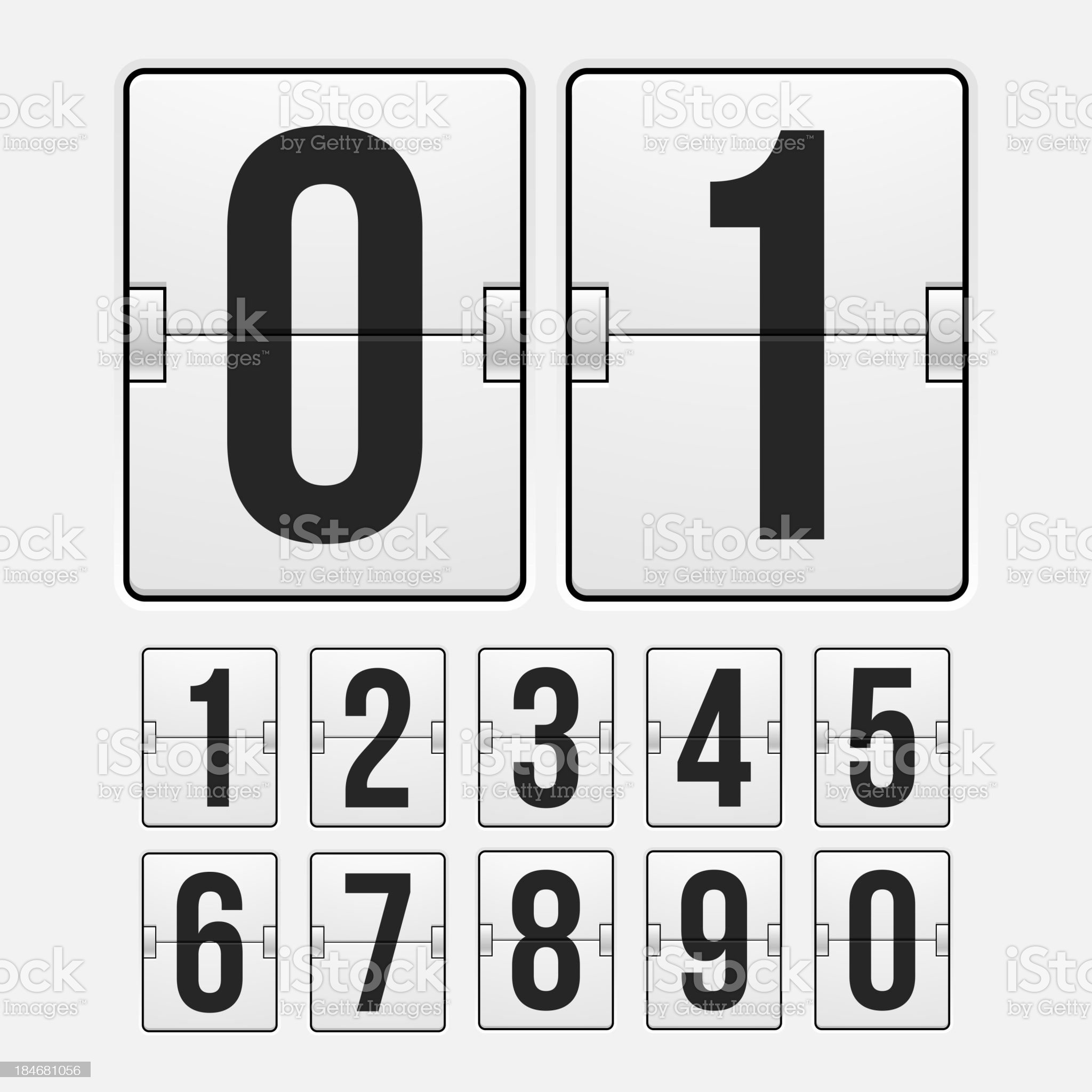 Countdown timer royalty-free stock vector art