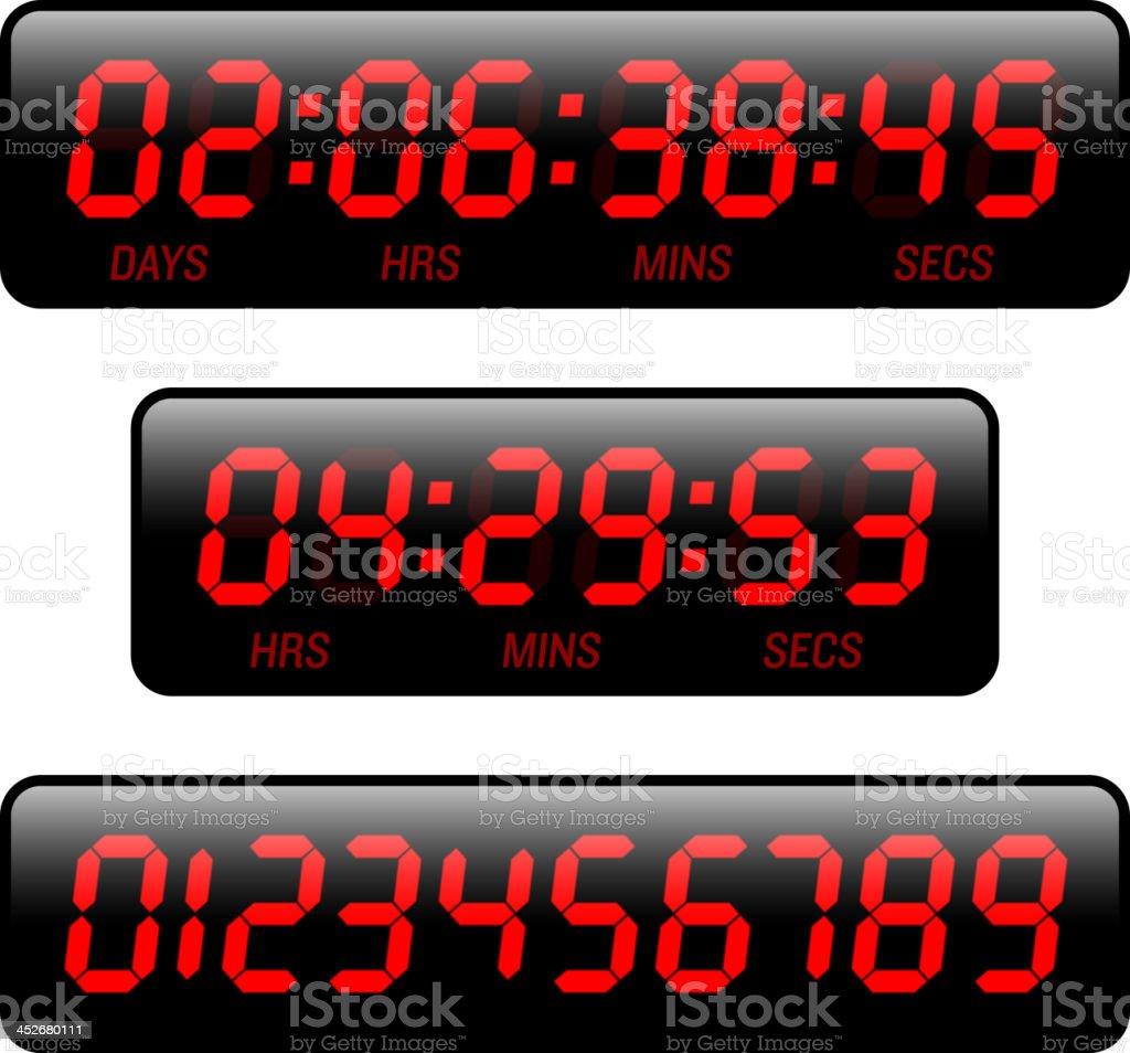 Countdown timer vector art illustration