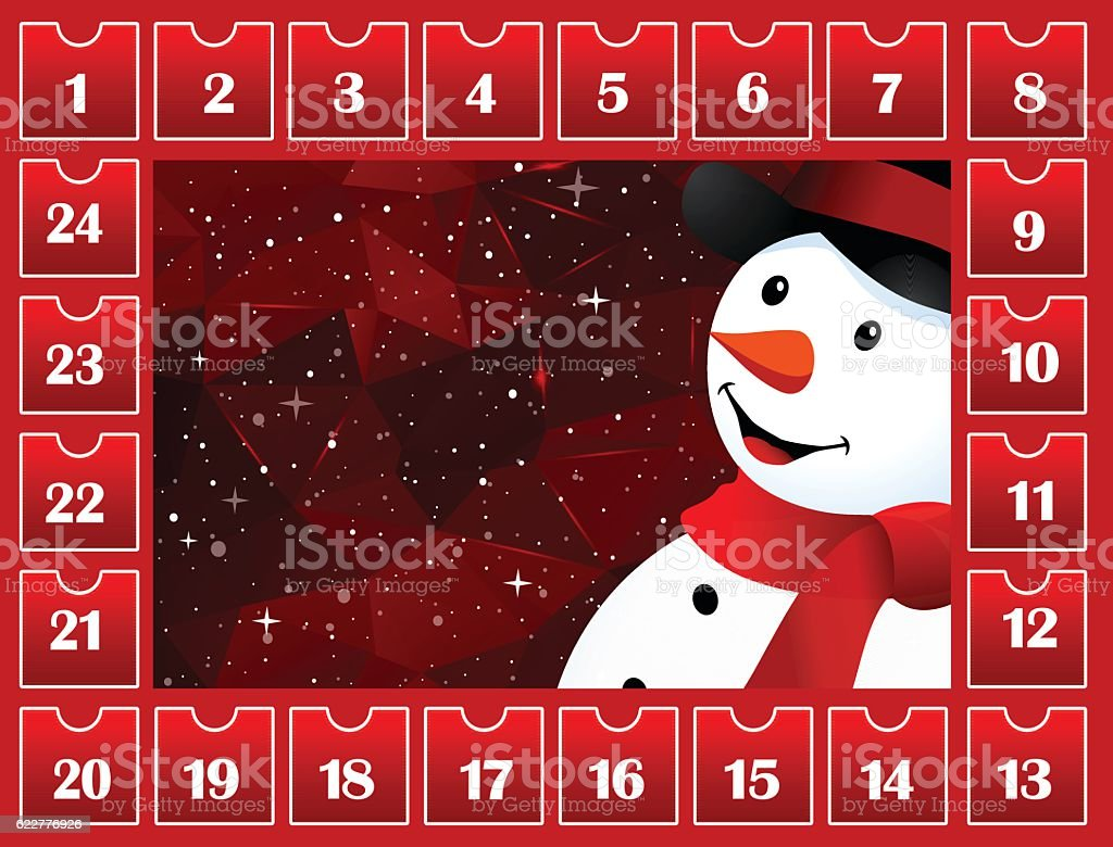 Countdown to Christmas Day vector art illustration